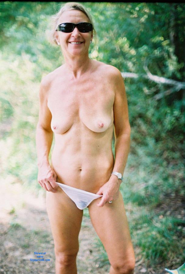 Pic #1Linda at The Lake - Bikini Voyeur, Blonde, Medium Tits, Nature