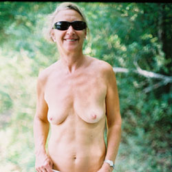 Linda at The Lake - Bikini Voyeur, Blonde, Medium Tits, Nature