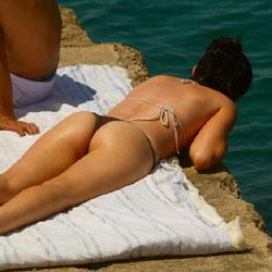 Watching Some Fish? - Beach, Bikini Voyeur