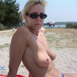 Malena Ala Plage - Blonde, Bikini Voyeur, Big Tits, Beach, European And/or Ethnic