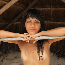 Nelly and Tulum II - Brunette, Small Tits