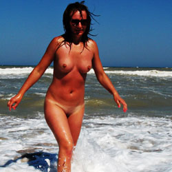 More Med Frolics ! - Big Tits, Brunette Hair, Beach Voyeur , More Pics From The Rare Deserted Beaches Of The Mediterranean With Sexy Lisa !  Thanks For The Feedback - Turns Her On BIG Time !