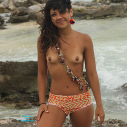 Nelly in Tulum IV - Beach, Brunette, Small Tits