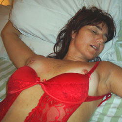 Sleeping In Red Lingerie - Bed, Brunette Hair, Erect Nipples, Firm Tits, Flashing Tits, Flashing, Hard Nipple, Nipples, Showing Tits, Sexy Boobs, Sexy Girl, Sexy Lingerie, Sexy Woman, Wife/wives , Brunette, Nude, Lingerie, Tits, Nipples, Bed