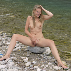 Bri At The River - Blonde Hair, Nude In Public, Perfect Tits, Shaved , During Our Last Trip To Austria We Passed This Great Mountain River. The Location Was Totally Romantic And Bri - Of Course - Would Like Nothing Better Than Taking Her Clothes Off For You ...