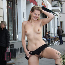 Bri Nude in Berlin - Exposed In Public, Flashing, Heels, Nude In Public, Perfect Tits, Shaved , Dear Visitors,