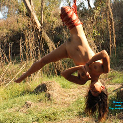 Nelly and Shibari - Brunette Hair, Nude In Public , As Nelly Loves To Play With The Strings, Let's Play Around With It!