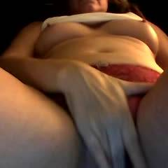 Red Panties - Big Tits, Masturbation, Shaved , Old Camera.  Sorry About The Sound.