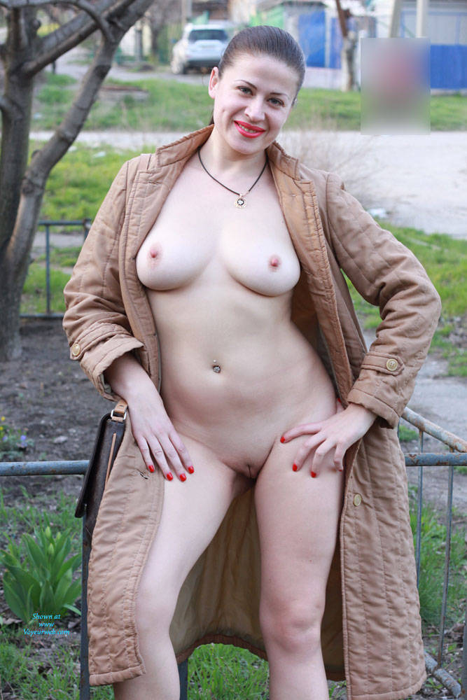 Pic #1Sexy Viko - Big Tits, Brunette, Flashing, Public Exhibitionist, Public Place, Shaved