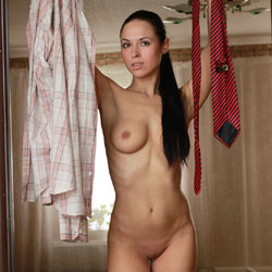 Naked Poses In Her Bedroom - Big Tits, Black Hair, Brunette Hair, Firm Tits, Full Nude, Indoors, Nipples, Perfect Tits, Shaved Pussy, Showing Tits, Hairless Pussy, Hot Girl, Naked Girl, Sexy Body, Sexy Boobs, Sexy Figure, Sexy Girl, Sexy Legs, Sexy Woman, Wife/wives , Naked, Brunette, Big Tits, Hairless Pussy, Legs
