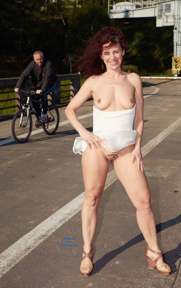 Flashing Nude On Bridge - Big Tits, Exposed In Public, Firm Tits, Flashing, Heels, Nipples, No Panties, Nude In Public, Nude Outdoors, Perfect Tits, Red Hair, Redhead, Shaved Pussy, Showing Tits, Hairless Pussy, Hot Girl, Pussy Flash, Sexy Body, Sexy Boobs, Sexy Face, Sexy Figure, Sexy Girl, Sexy Legs, Sexy Woman , Nude, Redhead, Outdoor, Heels, Flashing, Firm Tits, Pussy, Legs