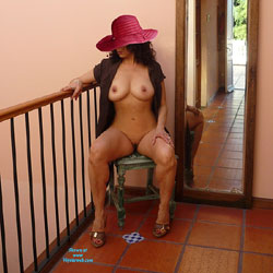 Sitting Naked Wearing Hat - Big Tits, Brunette Hair, Chair, Erect Nipples, Hard Nipple, Heels, Huge Tits, Indoors, Large Breasts, Nipples, No Panties, Perfect Tits, Shaved Pussy, Showing Tits, Hairless Pussy, Hot Girl, Naked Girl, Sexy Body, Sexy Boobs, Sexy Girl, Sexy Legs, Sexy Woman, Latina , Naked, Hat, Brunette, Legs, Big Tits, Shaved Pussy, Heels