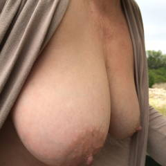 Very large tits of my wife - Janusa