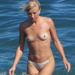 Topless Blonde Enjoying The Beach - Big Tits, Bikini, Blonde Hair, Brown Eyes, Erect Nipples, Exposed In Public, Firm Tits, Hard Nipple, Nipples, Nude In Nature, Nude In Public, Showing Tits, Topless Beach, Topless Girl, Topless Outdoors, Topless, Water, Beach Tits, Beach Voyeur, Sexy Body, Sexy Figure, Sexy Girl, Sexy Legs, Sexy Woman , Nude, Blonde Girl, Sexy, Topless, Bikini, Legs, Small Tits, Nipples, Beach
