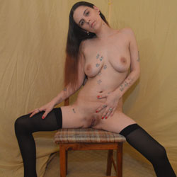 Kitten In Stockings - Big Tits, Brunette, Tattoos