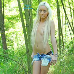 Michelle In The Forest - Blonde Hair, Nude In Public, Small Tits , I Like To Walk Alone In Woods.
