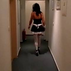 Naughty French Maid - Brunette Hair, Masturbation, Toys, Costume , Look What A French Maid Can Find Under The Pillow Of A Guest Room And What She Can Do With It Risking Her Job...