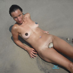 Beach Nudes - Brunette Hair, Beach Voyeur , Feeling Naughty