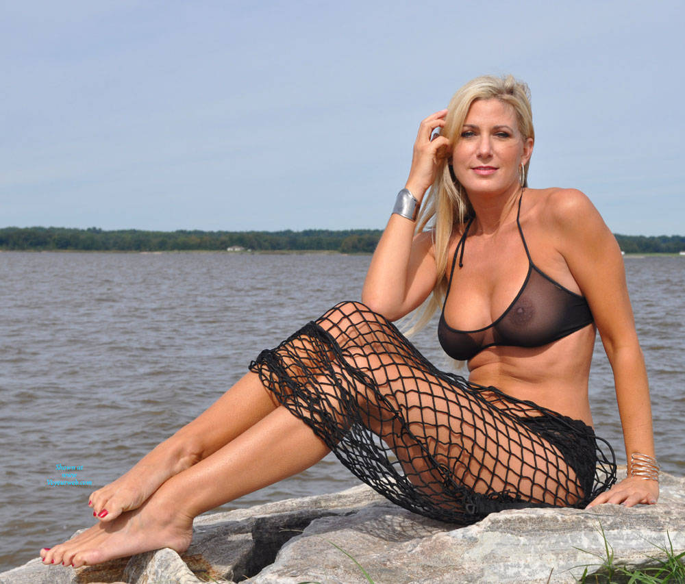 Pic #1Vikki On The Rocks - Beach, Big Tits, Blonde
