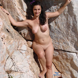 Me At A Naturist Shot - Big Tits, Brunette Hair, Beach Voyeur , I Was Photographed For A Naturist Shot
