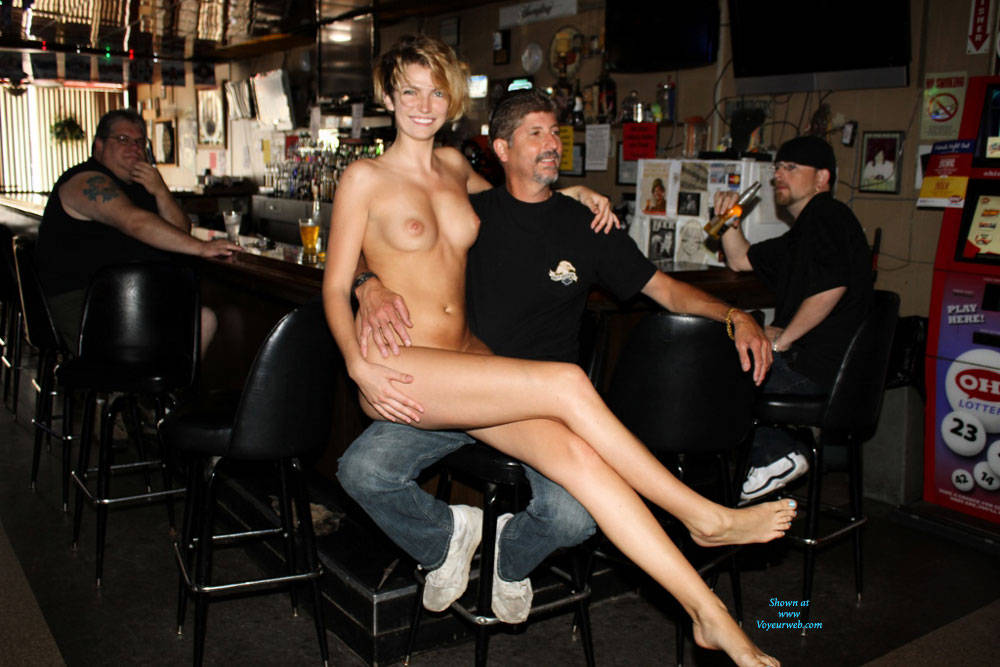 Sitting Naked At The Bar - Big Tits, Blonde Hair, Erect Nipples, Exposed In Public, Firm Tits, Full Nude, Hard Nipple, Nipples, Nude In Public, Short Hair, Showing Tits, Hot Girl, Naked Girl, Sexy Body, Sexy Boobs, Sexy Face, Sexy Feet, Sexy Figure, Sexy Girl, Sexy Legs, Sexy Woman, Young Woman , Blonde Girl, Naked, Nude In Public, Sitting On A Stranger, Legs, Firm Tits
