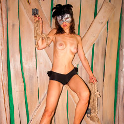 Nude Masked Woman - Artistic Nude, Brunette Hair, Nipples, Showing Tits, Small Breasts, Small Tits, Topless Girl, Topless, Sexy Body, Sexy Boobs, Sexy Figure, Sexy Girl, Sexy Legs, Sexy Woman, Costume , Sexy, Masked, Topless, Legs, Medium Tits
