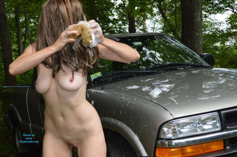 Sexy Car Wash - Big Tits , There Is Nothing Better Than Watching My Wife Washing The Vehicle. The Way She Shakes Her Ass And Tits While Cleaning.  Mmmm Giving Me A Woody Right Away.  I Can't Wait To Feel That Nice Pussy Of Hers When She Is Done.  If I Can Even Wait That Long. Oh I Want To Feel Those Nice All Natural Titties.....
