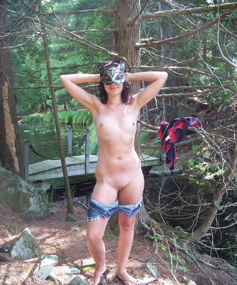 Naughty Outdoors - Brunette Hair, Nude In Public, Shaved , Hi All,