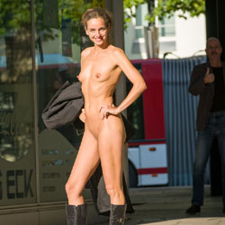 Naked At The Bus Stop - Boots, Brunette Hair, Erect Nipples, Exposed In Public, Firm Tits, Flashing, Full Nude, Naked Outdoors, Natural Tits, Nipples, Nude In Public, Shaved Pussy, Small Breasts, Small Tits, Hairless Pussy, Hot Girl, Naked Girl, Sexy Body, Sexy Face, Sexy Figure, Sexy Girl, Sexy Legs, Sexy Woman, Young Woman , Sexy, Brunette, Naked, Outdoor, Nude In Public, High Boots, Legs, Small Tits, Shaved Pussy