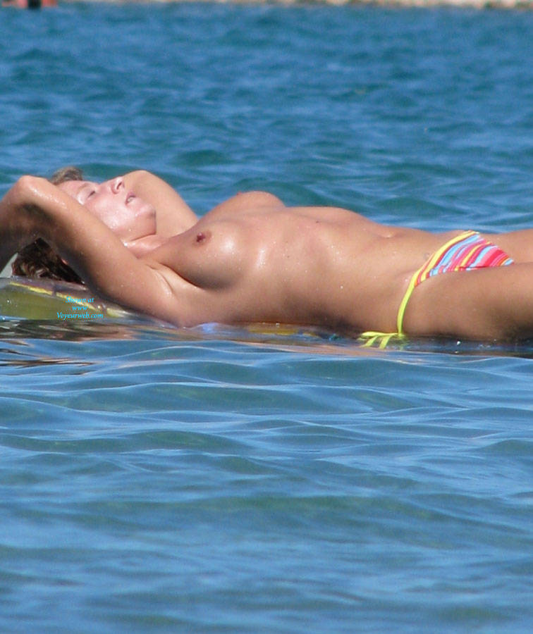 Floating Topless On Beach Water - September, 2014 - Voyeur Web Hall Of Fame-2732