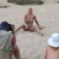 Nude Pose On The Sand - Big Tits, Blonde Hair, Huge Tits, Long Hair, Shaved Pussy, Spread Legs, Naked Girl, Nude Amateur , Girl In Sand Box, Feet Showing, Sitting On A Beach, Playing To The Crowd, Blonde With Big Tits, Big Tits Blonde, Beach Nude