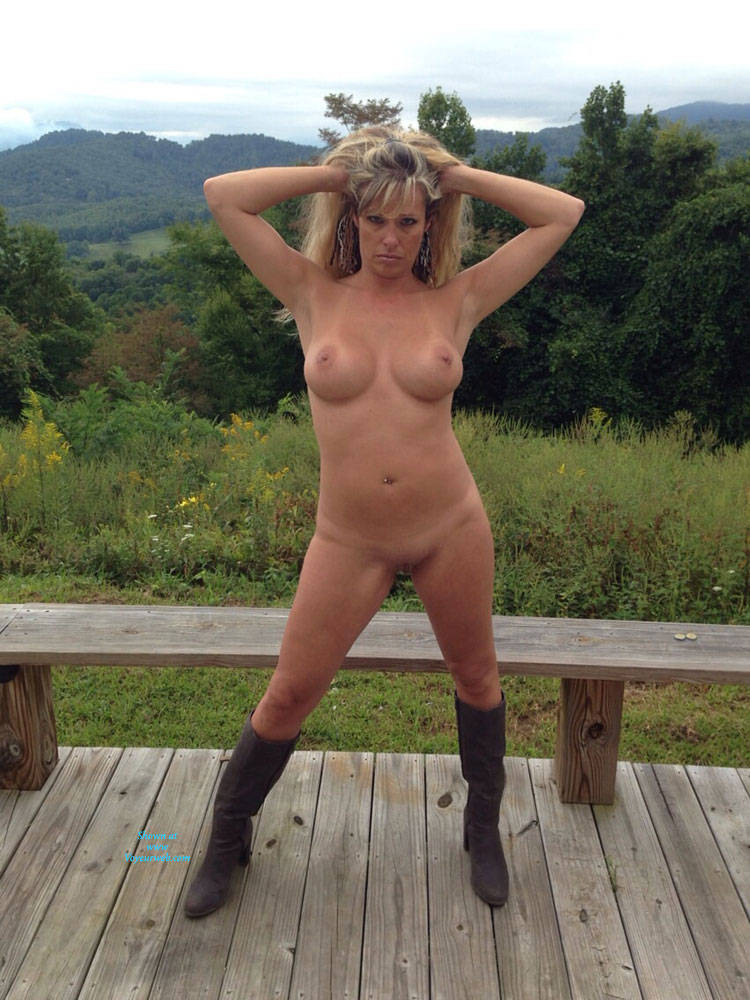 Day On The Deck - Big Tits, Blonde Hair , I Love To Be Nude And Get Pictures Taken Of Me!!! It Makes My Pussy Sooo Wet!!!
