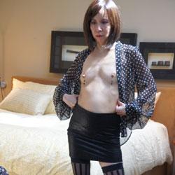 Carolyn Jane Stripping - Brunette, Lingerie