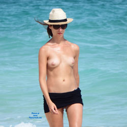 Topless At The Beach - Erect Nipples, Exposed In Public, Firm Tits, Hard Nipple, Nude Beach, Nude Outdoors, Perfect Tits, Showing Tits, Sunglasses, Topless Beach, Topless Girl, Topless Outdoors, Topless, Water, Beach Tits, Beach Voyeur, Sexy Body, Sexy Figure, Sexy Girl, Sexy Legs, Young Woman , Young Girl, Topless, Legs, Firm Tits, Nipples, Sunglasses, Hat, Outdoor, Nude