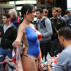 Times Square Nude Girl - Artistic Nude, Big Tits, Brunette Hair, Erect Nipples, Exposed In Public, Hanging Tits, Huge Tits, Naked Outdoors, Nude Outdoors, Perfect Tits, Showing Tits, Topless Girl, Topless, Hot Girl, Sexy Body, Sexy Boobs, Sexy Face, Sexy Figure, Sexy Girl, Sexy Legs, Sexy Panties , Nude, Topless, Brunette, Pantie, Painted, Nude In Public, Big Tits, Legs