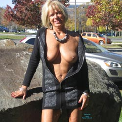 Before The Cold Weather Arrived - Big Tits, Blonde, Public Exhibitionist, Public Place