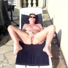 At Home - Big Tits, Brunette Hair, Masturbation, Nude Outdoors , My Neighbour G Like The Show