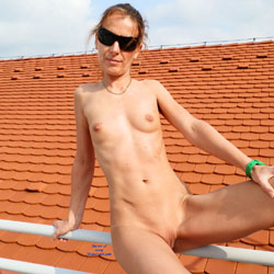 Naked On The Roof Wearing Sunglasses - Brunette Hair, Exposed In Public, Full Nude, Milf, Naked Outdoors, Natural Tits, Nipples, Nude In Public, Shaved Pussy, Showing Tits, Small Breasts, Small Tits, Sunglasses, Hairless Pussy, Hot Girl, Sexy Body, Sexy Face, Sexy Figure, Sexy Girl, Sexy Legs , Mature, Naked, Outdoor, Small Tits, Shaved Pussy, Legs, Sunglasses