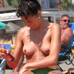 Topless Beach Vacation - Big Tits, Bikini, Brunette Hair, Exposed In Public, Firm Tits, Hard Nipple, Nude In Public, Perfect Tits, Showing Tits, Topless Beach, Topless Girl, Topless, Beach Tits, Beach Voyeur, Hot Girl, Sexy Body, Sexy Boobs, Sexy Figure, Sexy Girl, Sexy Legs , Beach, Brunette, Topless, Legs, Firm Tits, Nipples