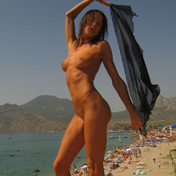 Koktebel - Beach Voyeur , Model, Beach, Softcore, Nudity