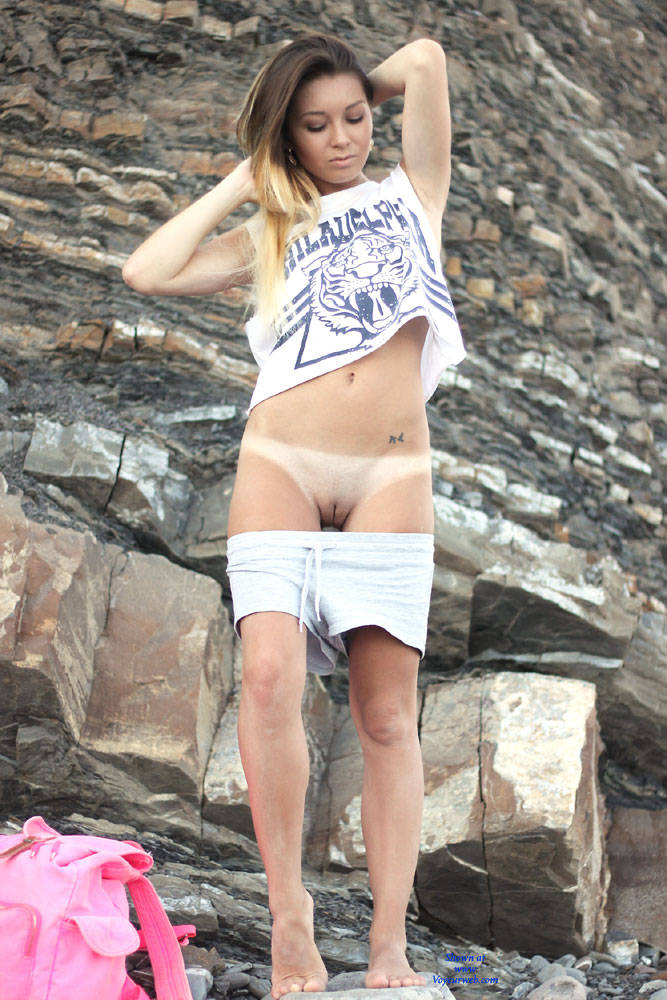 Pic #1Vivienne - Brunette, European And/or Ethnic, Firm Ass, Medium Tits, Natural Tits, Outdoors, Pussy, Shaved, Young Woman