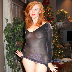 My See-Through New Year's Celebration - Big Tits, Redhead, See Through , Redhead, See Through, Nude, Party Girls