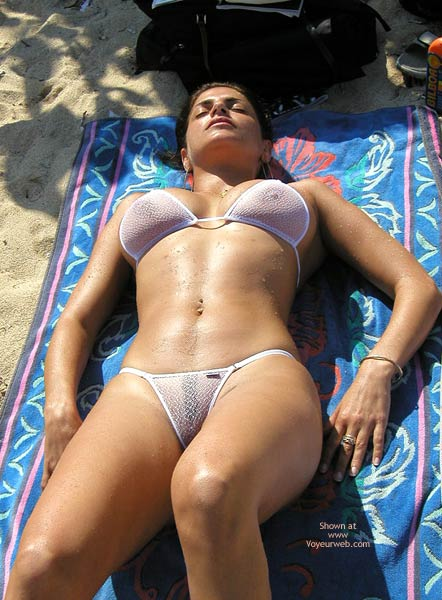 Mini Bikini - Bikini, Nude Beach, Wicked Weasel , Mini Bikini, See Through Bikini, See Thru Wicked Weasel, Sunning On The Beach, Microkini
