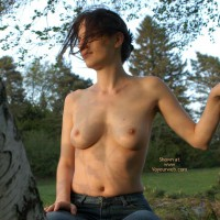 Topless Outdoors - Jeans, Topless In Public, Topless Outdoors , Topless Outdoors, Topless In Public, Topless In A Tree, Jeans