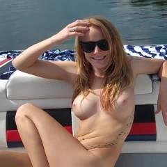 Crystal Nude On Boat