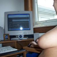 Web Ring - Close Up, Nipple Ring , Web Ring, Closeup Nipple Ring, Nipple Ring, At Computer, Closeup