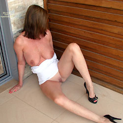 Exposing On Balcony - Big Tits, High Heels Amateurs, Shaved