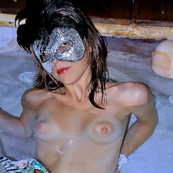 Relaxing Naked In Water - Brunette Hair, Erect Nipples, Firm Tits, Hard Nipple, Indoors, Nipples, Showing Tits, Small Breasts, Small Tits, Strip, Water, Wet, Sexy Body, Sexy Face, Sexy Figure, Sexy Girl, Sexy Legs, Costume , Brunette, Naked, Masked, Wet, Water, Trimmed Pussy, Small Tits