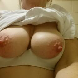 My large tits - redness
