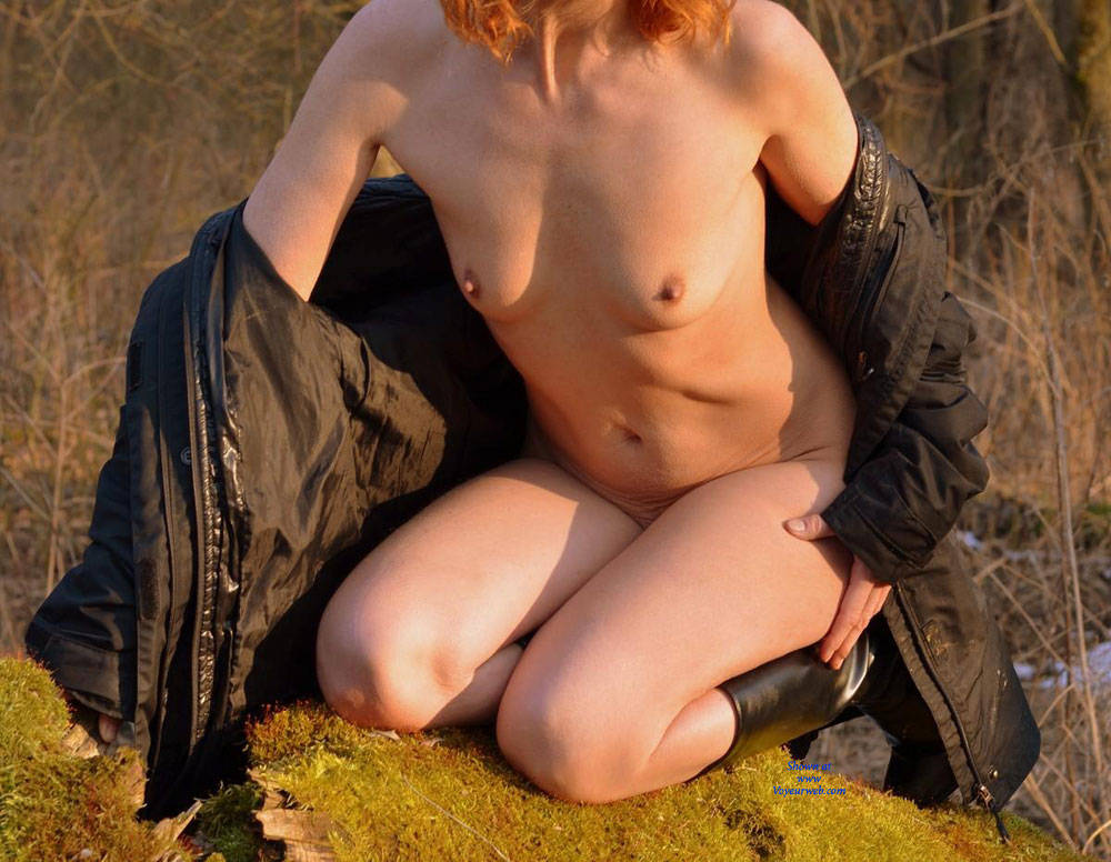 Coolish Fun Down The Floodplain Forest - Nude In Public, Wife/wives , Husband And Wife, Nude Couples, Horny Babe, Slut